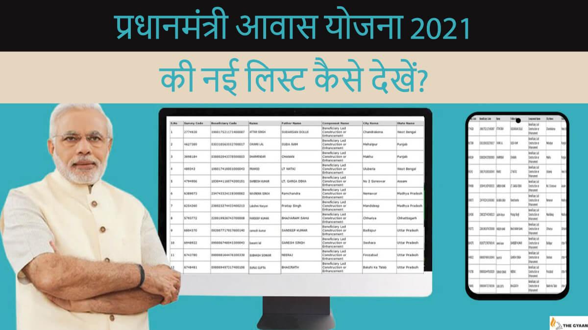 प्रधानमंत्री आवास योजना 2021